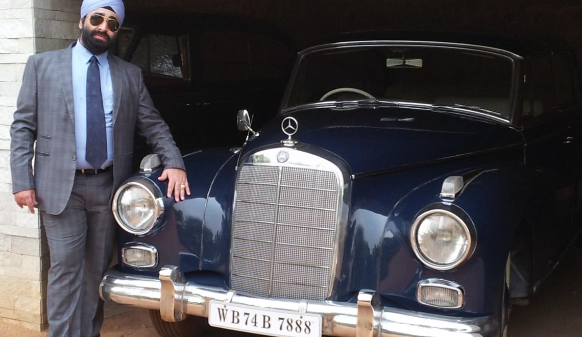 Tikku Mercedes Blue Vintage