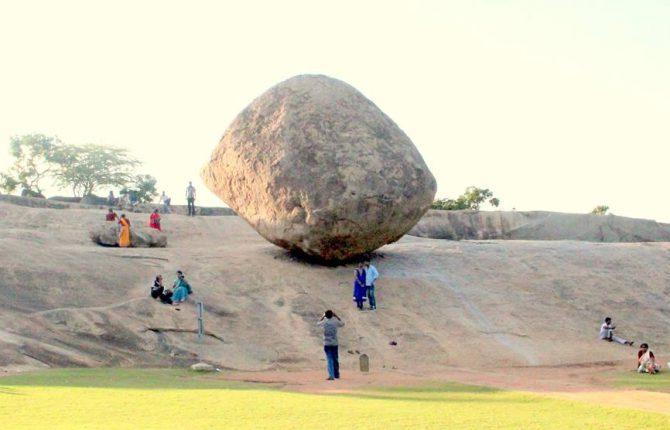 krishna's butter ball mahabalipuram