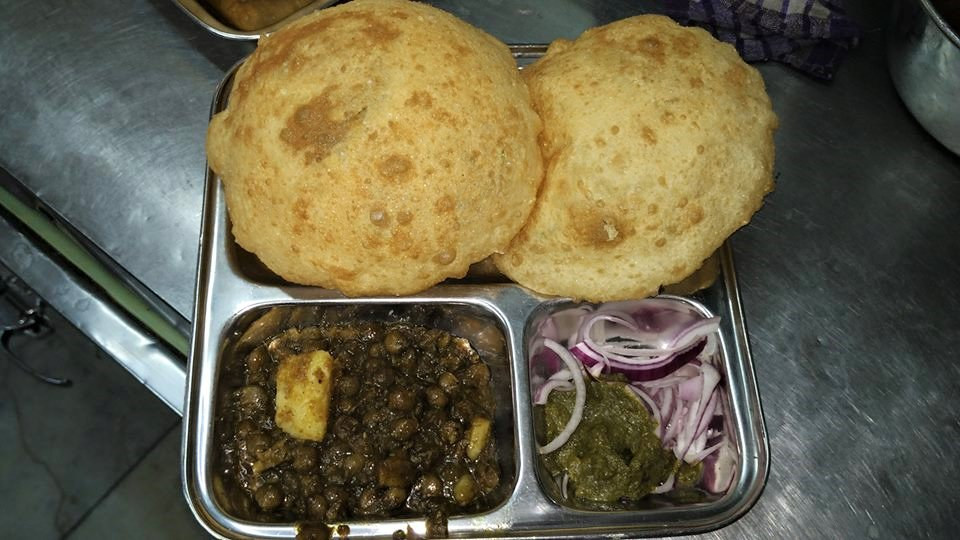 chole bhature at Odeon Sweets