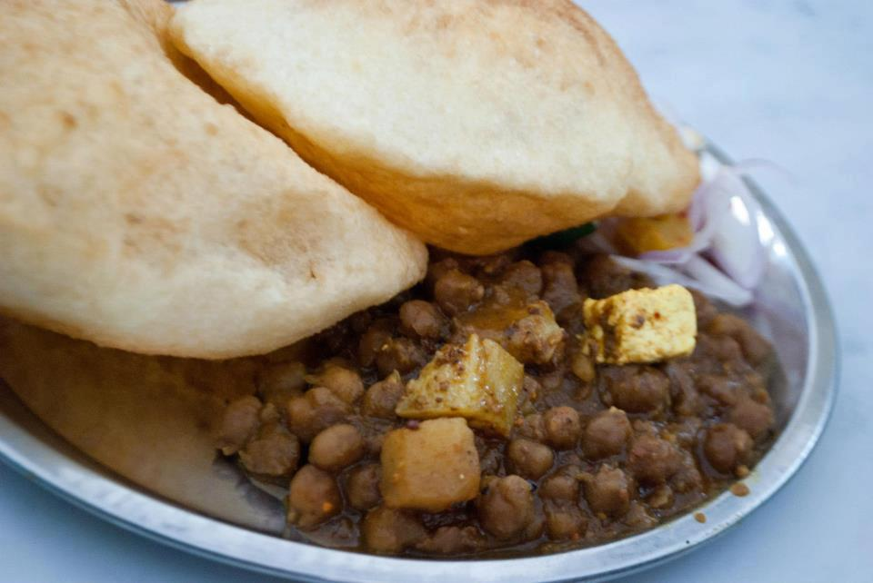 Chole bhature with paneer at OM corner