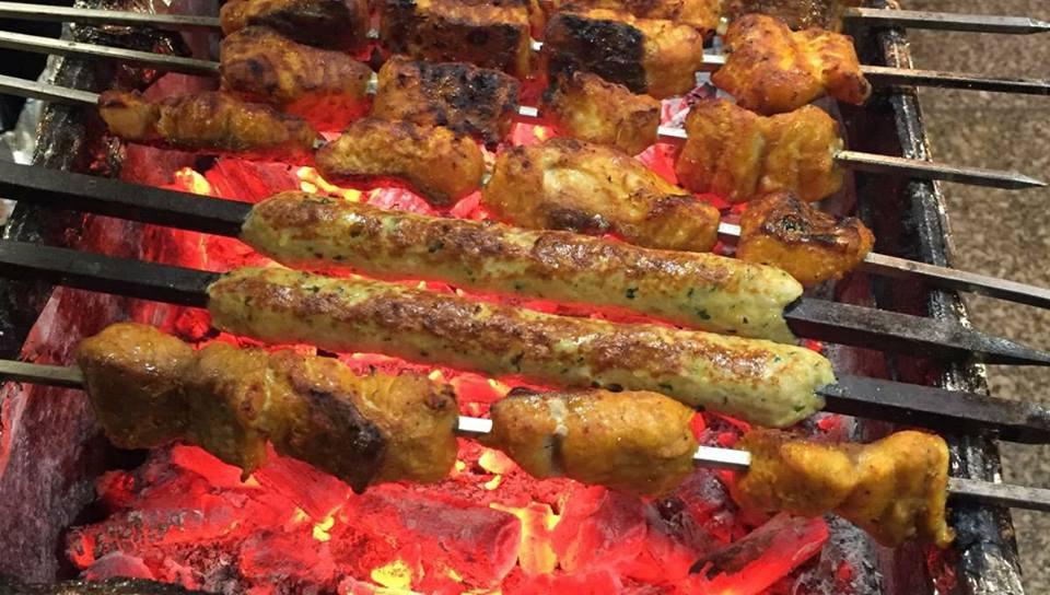 Kebabs at Aslam Chicken Saket