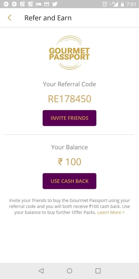 referral code for gourmet passport