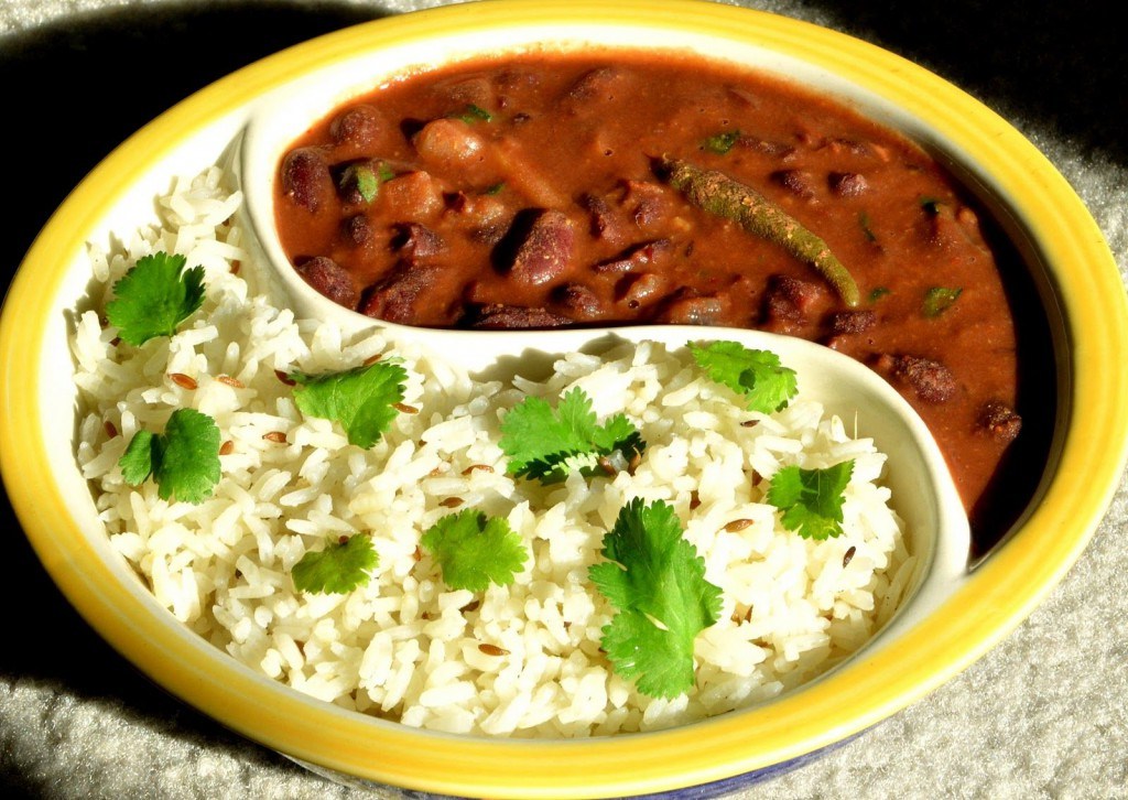jeera rice and rajma rice