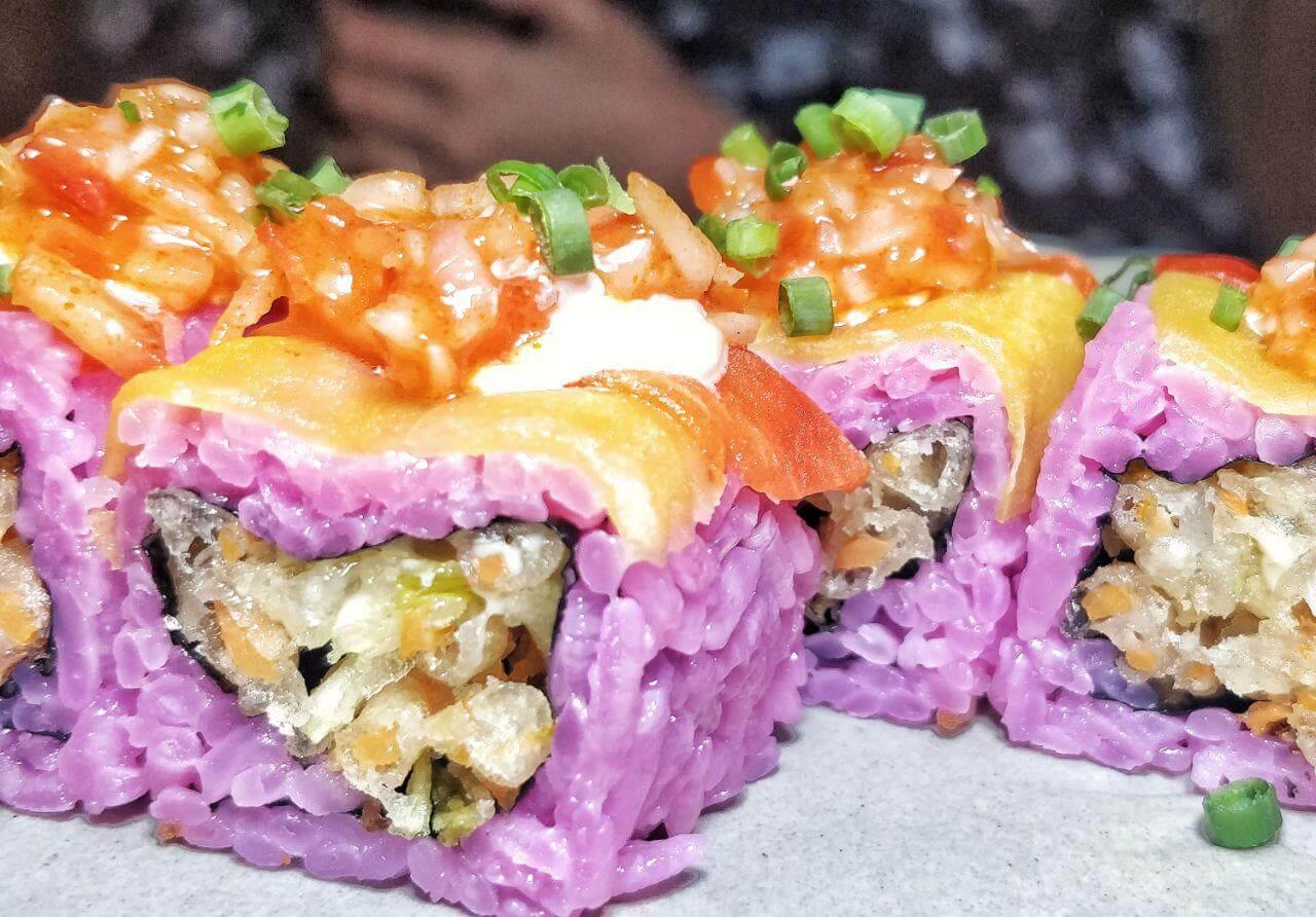veg rainbow sushi at pra pra prank sector 29 gurugram haryana