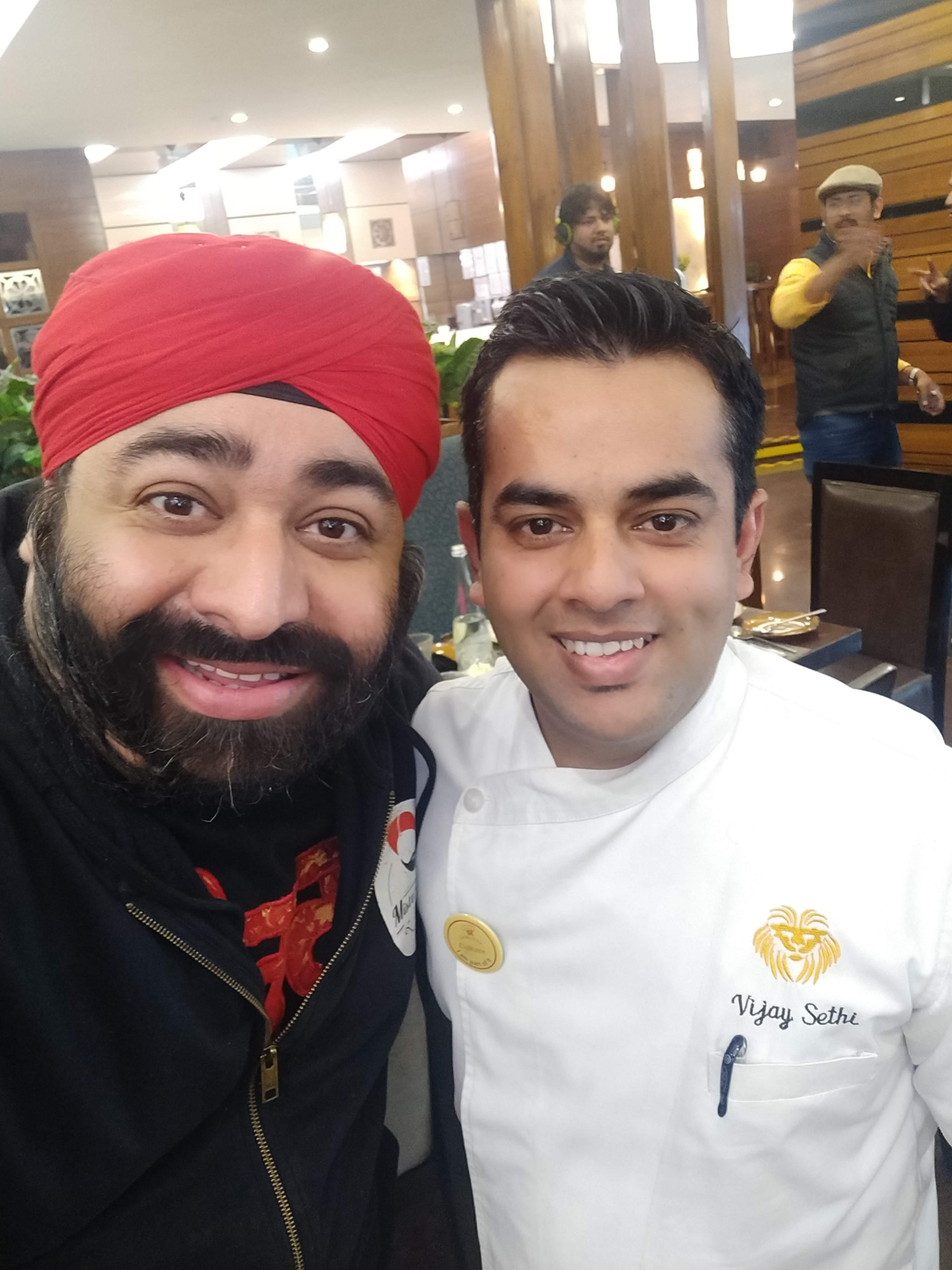 Mister Tikku with Chef